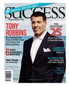 SUCCESS magazine - Jan 2015 Cover - Tony Robbins