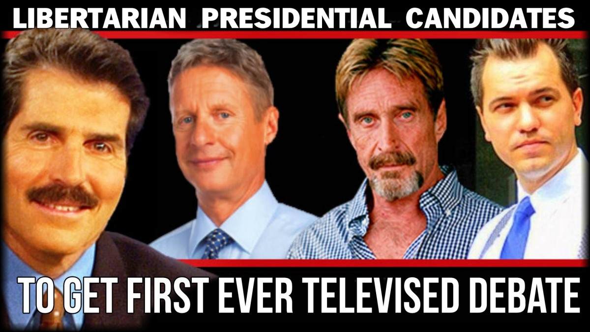 First ever nationally televised Libertarian Presidential Debate