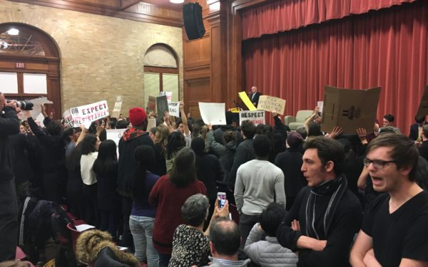 Charles Murray shouted down at Vermont university